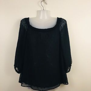 Sheer polka dot lined top size xs by Kismet